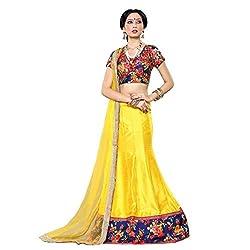 Triveni Art Silk Lehenga Choli (TSSHFHK2802_Yellow)