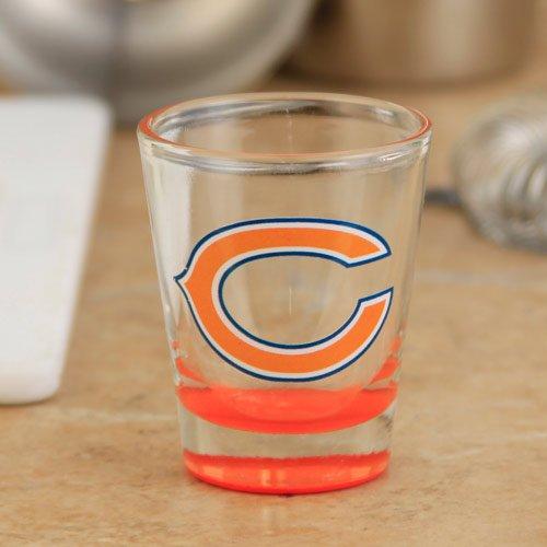 NFL Chicago Bears 2 oz. Highlight Shot Glass chicago bears classic cuffed winter knit hat orange
