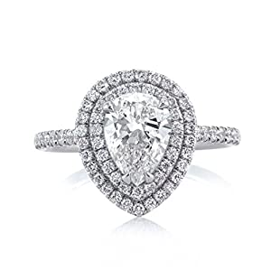 Mark Broumand 2.02ct Pear Shaped Diamond Engagement Ring