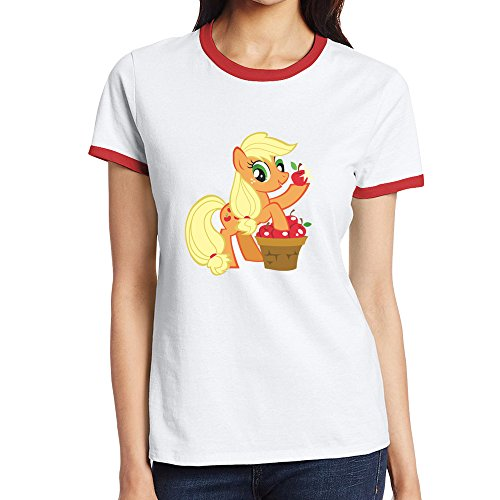 Women Short Sleeve Applejack My Little Pony T Shirt