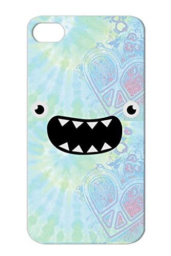 Tpu Funny Monster Face Nom Comic Cool Smile Kids Funny Face Cute Cookie Baby Protective Case For Iphone 4/4S Silver Anti-Drop front-934425