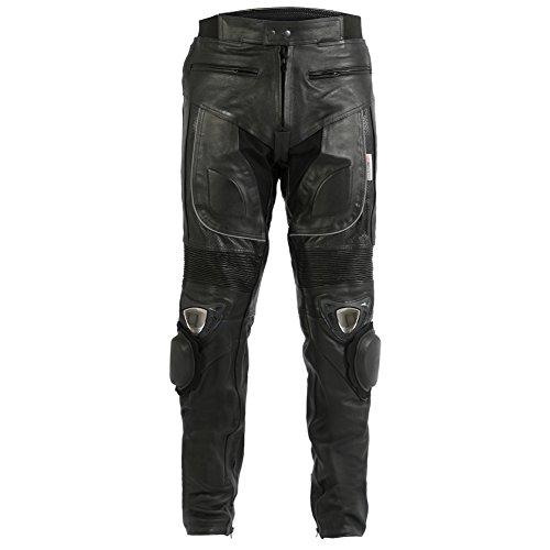 pantaloni-jeans-da-uomo-in-pelle-per-motociclismo-saponette-in-metallo-girovita-32-lunghezza-34