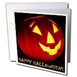 Sandy Mertens Halloween Designs - Happy Halloween Jack o Lantern - 12 Greeting Cards with envelopes (gc_6028_2)