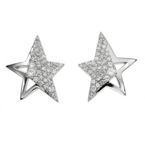 T31101Z Thierry Mugler-Women's Earrings-Stainless Steel Necklace with Cubic Zirconia