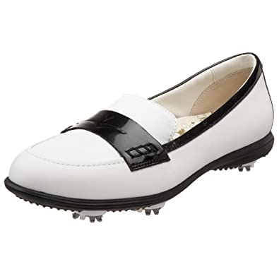 Callaway Women's Couture Moc Golf Shoe,White/Black Patent,US Women's 5.5 M