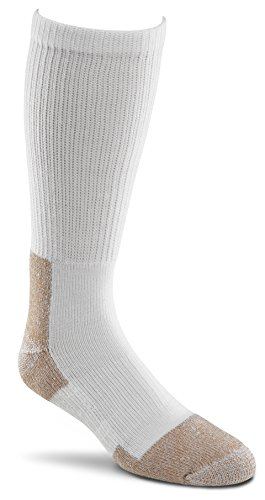 Fox River Steel-Toe Mid-Calf Boot Work Sock (White, Large),Set of 2 pairs