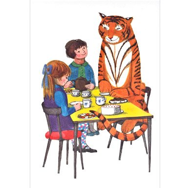 The Tiger Who Came To Tea'' Greeting Card