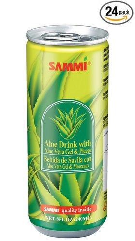 Sammi Aloe Vera Juice With Aloe Gel 240Ml (Pack Of 24) (Original)