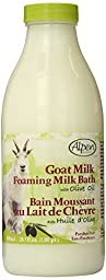 Alpen Secrets Goat Milk Foaming Milk Bath with Olive Oil, 28.7 Fluid Ounce (Pack of 2)