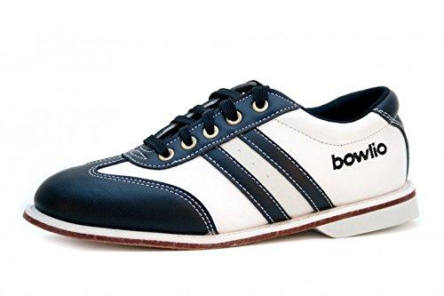 Bowlio Torino - Bowlingschuhe aus Leder für Damen und Herren in Schwarz und Weiss