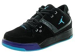 Nike Jordan Kids Jordan Flight 23 BP Blk/Bl Lgn/Brght Cncrd/Drk Gry Basketball Shoe 3 Kids US