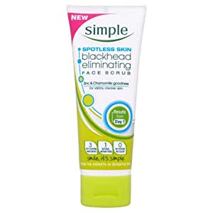 Simple Spotless Skin Blackhead Eliminating Scrub 75 ml