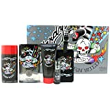 ED Hardy Born Wild Coffret: Edt Spray 100ml/3.4oz + Hair & Body Wash 90ml/3oz + Deodorant 78g//2.75oz + Edt Spray...