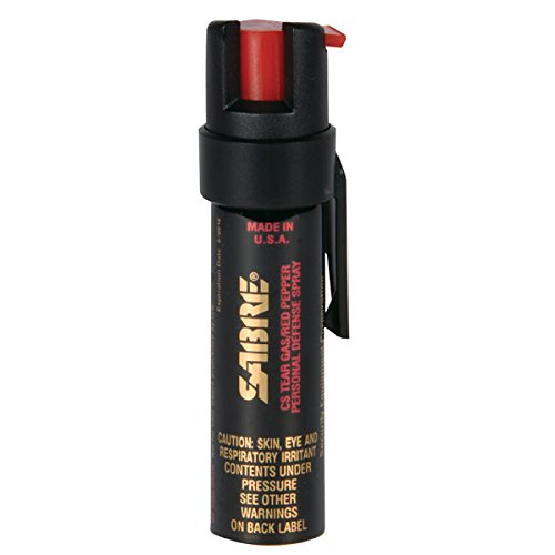 SABRE 3-IN-1 Pepper Spray - Advanced Police Strength - Compact Size with Clip, Contains 35 Bursts (5x Other Brands) & 10-Foot (3M) Range (Pepper Spray Running compare prices)