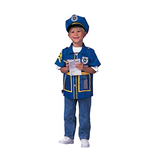 Kid's Police Officer Costume (Size: Standard 7-10)