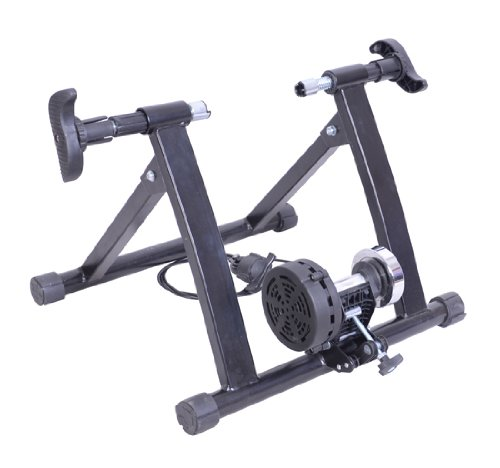 Indoor Magnetic Bicycle Bike Trainer Stand w/ 5 Resistance Levels - Black