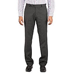 Flags Men's Formal Trouser PV Stretch in Checks Black Colour Size 42
