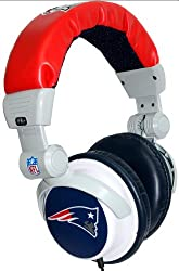iHip NFH22NEP NFL New England Patriots DJ Style Headphones- Blue/Red/White (Discontinued by Manufacturer)
