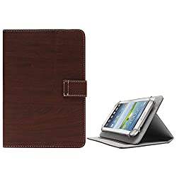 DMG Premium Folio Case Cover with Stand View for Asus Fonepad 7 K00Z 7in Tablet (Brown)