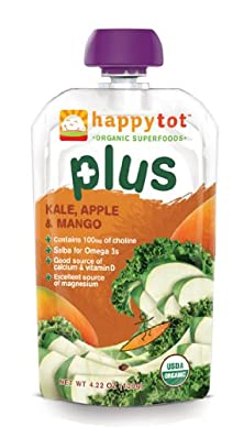 buy Happy Tot Plus Organic Baby Food, Kale, Apple And Mango, 4.22 Ounce Pouches (Pack Of 8)