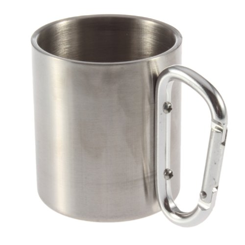 YKS Stainless Steel Camping Hiking Cup Carabiner