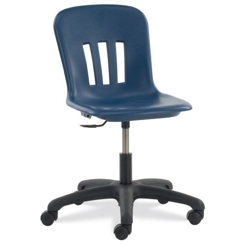 Virco N9TASK185101 Metaphor Mobile Task Chair, Adjustable Height, Navy Blue Seat, Black 5-Star Base