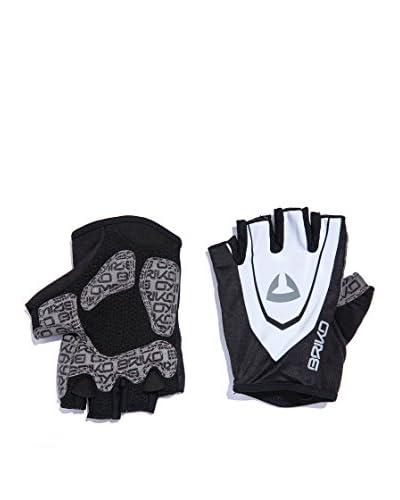 BRIKO Guanti senza dita Scuderia Hf Glove [Bianco/Giallo/Nero]