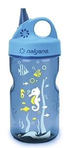 Nalgene Grip-N-Gulp Water Bottle (Blue Seahorse, 12-Ounce)