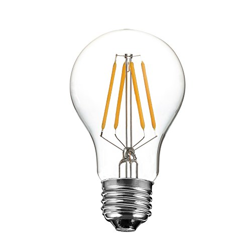 Kiven® Vintage LED Filament Light Bulb Edison Style 4W E26 Base to Replace 40W Incandescent Bulb Soft White (2700K) 110VAC Non-dimmable suitable for Bistro Large Tents Decorative Wedding Decorative Light Strands Commercial Light Strings Chandeliers and Ornamental Fixtures (Blue Led Fridge Bulb compare prices)