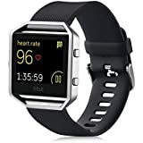 Fitbit Blaze Accessories Classic Band Large UMTele Soft Silicone Replacement Sport Strap Band With Quick Release...