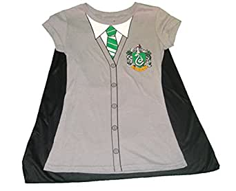 "Harry Potter ""Slytherin"" Uniform Shirt with Cape Juniors"