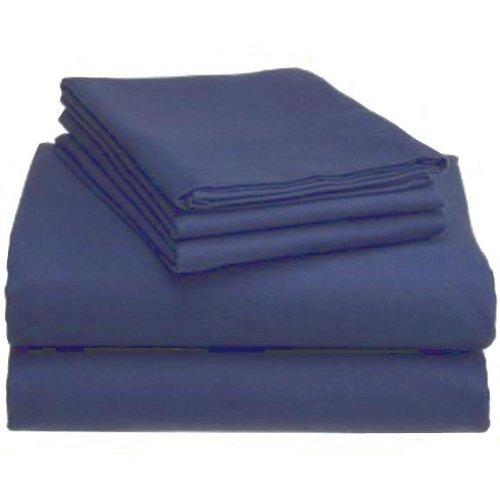 Marrikas Flannel Sheet Set Full Navy front-887693