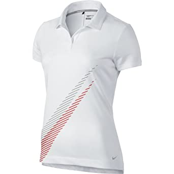 Nike Ladies Sport Swoosh Polo by Nike