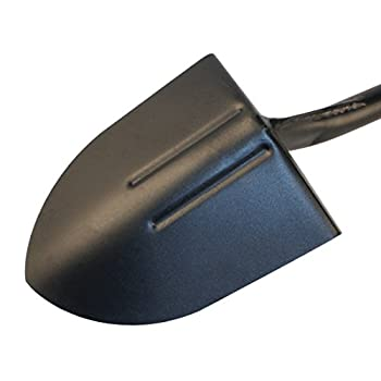 Bully Tools 82515 14-Gauge Round Point Shovel with Fiberglass Long Handle