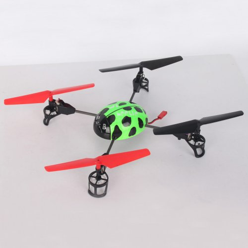 Beetle 4 Channel 4ch 2.4G Transmitter Helicopter Icopter Quadcopter 4-axis Rc Aircraft Toy Helicopter UFO 3D Tumbling with LCD Display Green