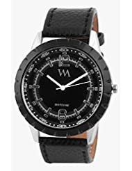 Watch Me Black Genuine Leather Analogue Watch For Men WMAL-061-BK
