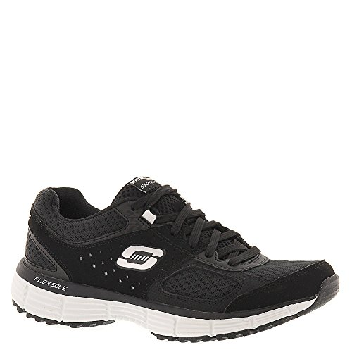 SKECHERS Women s Agility Perfect Fit Sneaker Black White 8 5 M