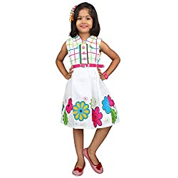 Hawai White Soft Cotton Frock For Girl