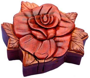 Picture of Fun Rose II - Secret Wooden Puzzle Box (B002P8VPOA) (Brain Teasers)