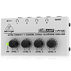 Behringer HA400 4-Channel Stereo Headphone Amp by Behringer