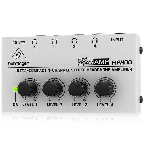 Behringer Ha400 4-Channel Stereo Headphone Amp
