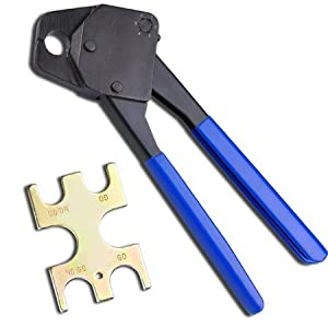 blue 1 2 pex crimping crimper cooper ring plumbing crimp tool with go no go gauge. Black Bedroom Furniture Sets. Home Design Ideas