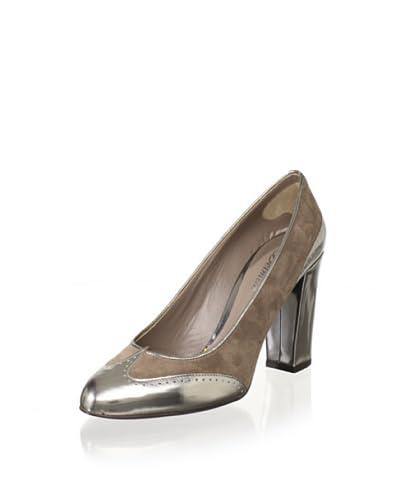 Delman Women's Fabu Dress Pump  - Ash/Silver