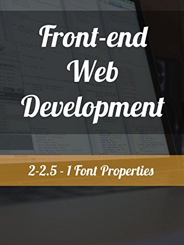 2-2.5 - 1. Font Properties