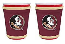 NCAA College Team Logo New Drink Glass Cup Insulated Kup Holder 2-Pack (Florida State Seminoles)
