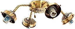 Hunter Fan Company 22574 Four Light Straight Arm Fitter, Antique Brass