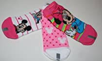 Disney Minnie Mouse Girl's Socks 3 Pair-3 Designs Size: 6-8.5