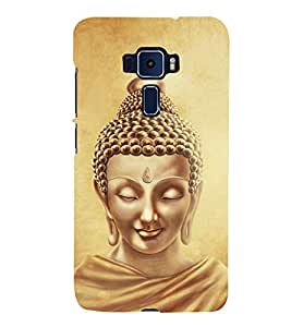 Lord Buddha Design 3D Hard Polycarbonate Designer Back Case Cover for Asus Zenfone 3 Deluxe ZS570KL