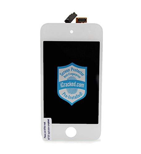 Ipod Touch 4Th Gen Premium Screen Replacement Kit By Icracked.Com - White front-582912