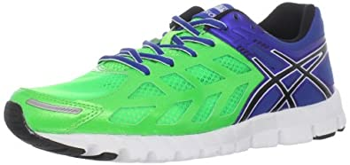 ASICS Men's GEL-Lyte33 Running Shoe,Apple Green/Black/Bright Blue,7.5 M US